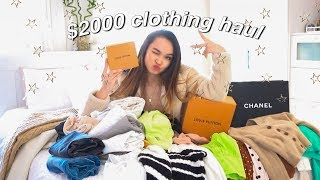 a $2000 spring try-on haul ✰ topshop, crybaby, louis vuitton, +more