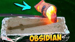 EXPERIMENT: OBSIDIAN SWORD from LAVA