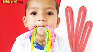 Indoor Fun Learn Colors With Rocket Balloons and Nursery Rhymes For Kids Video