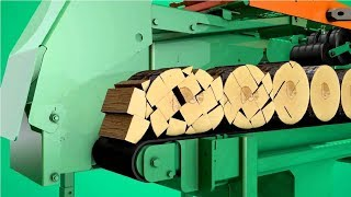 Amazing Modern Firewood Processing Machine Technology, Extreme Fast Wood Processor