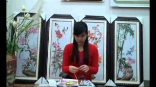 Candy Shop hướng dẫn thêu tranh ruy băng - Tranh thêu chữ thập Candy