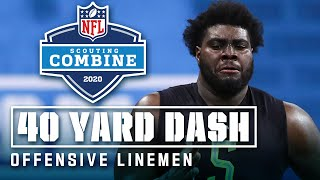 Offensive Linemen Run the 40-Yard Dash at the 2020 NFL Scouting Combine