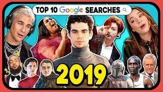 YouTubers React To Top 10 Google Searches 2019 (Google Year In Search 2019)