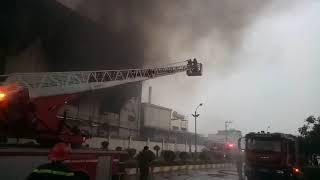 Cháy lớn cty chung an ở khu công nghiệp Việt hương thuận an bình dương