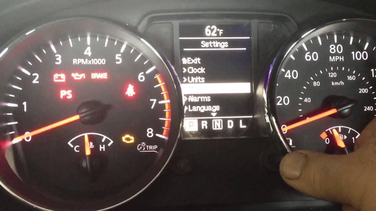 2017 Nissan Altima Service Engine Soon Light