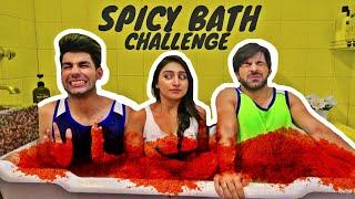 Spicy Bath Challenge | Rimorav Vlogs