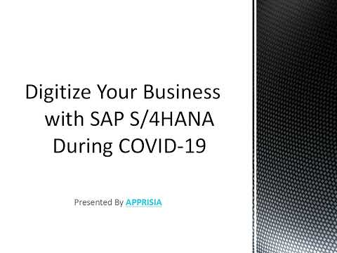 By Implementing SAP S4HANA Digitize Your Business During COVID19
