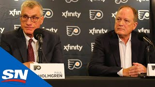 Flyers' Paul Holmgrem and Dave Scott Explain Decision To Fire Ron Hextall | FULL Press Conference