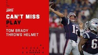 Tom Brady Throws Helmet in Frustration