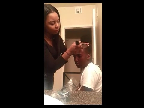 Woman Gives Her 12 Year Old Step Son A Fresh Jefferson Cut For Smoking Weed!
