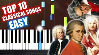 TOP 10 Classical Songs - EASY Piano Tutorials by PlutaX