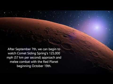 Comet Siding Spring and Mars - Prepare for Battle! The Hyperbolic Comet Is Arriving (#4 Video)