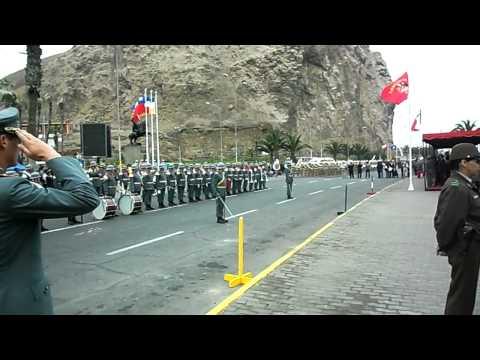 Himno Nacional de Chile - Contrapunto de Bandas Militares Arica 2011