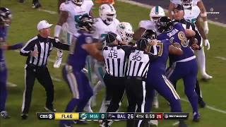 Ndamukong Suh Shoves Ryan Mallett Leading to Fight | Dolphins vs. Ravens | NFL