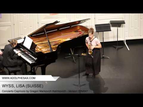 Dinant 2014 - WYSS Lisa (Concierto Capriccio by Gregori Markovich Kalinkovich - Version DINANT)