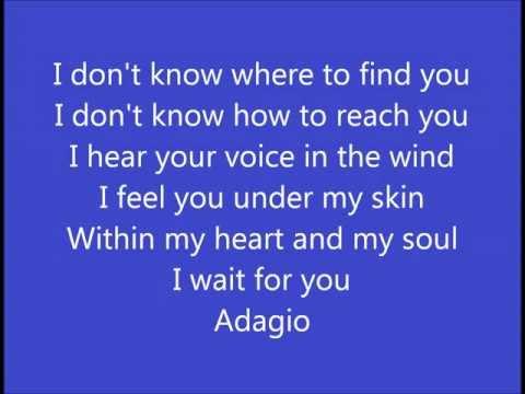 Lara fabian adagio english version with lyrics musica - Adagio lyrics il divo ...