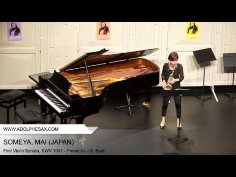 Dinant 2014 - SOMEYA Mai (First Violin Sonata, BWV 1001 - Presto by J.S. Bach)