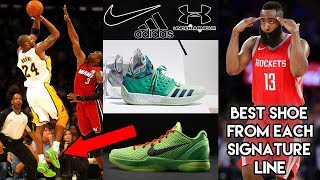 The Best Shoe from Each NBA Star's Signature Line- Nike, Adidas, Under Armour
