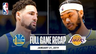 Full Game Recap: Warriors vs Lakers | Klay Hits 10 Straight 3-Pointers