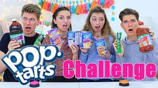 Pop Tarts Challenge ft. Collins Key   Vlogmas Day 2   Brooklyn and Bailey