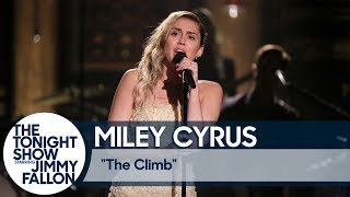Miley Cyrus Closes The Tonight Show with