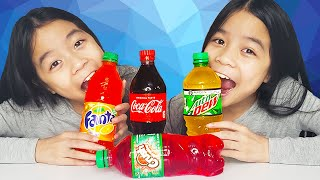 ASMR EDIBLE SODA BOTTLES   Tran Twins