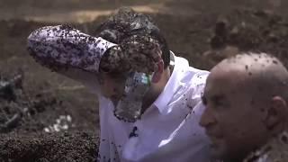 الحلقة 3 : رد فعل مصطفى خاطر بعد اكتشافه لرامز جلال فى رامز تحت الأرض