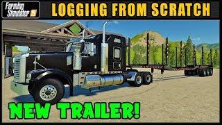 New Log Trailer! | Farming Simulator 2019 | Logging From Scratch #55