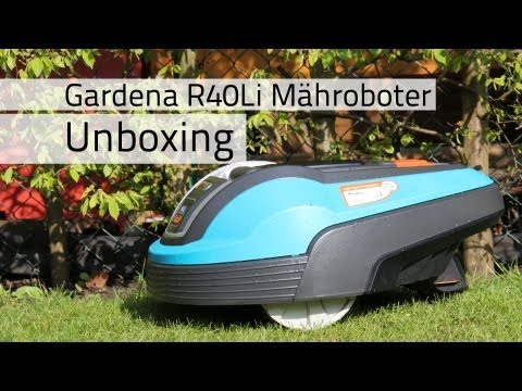 unboxing gardena r40 li m hroboter. Black Bedroom Furniture Sets. Home Design Ideas