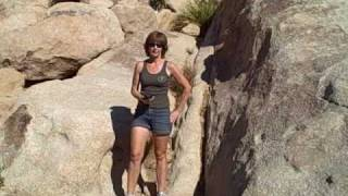 The Boulder Cave with Iron Door in Joshua Tree National Park Calif.
