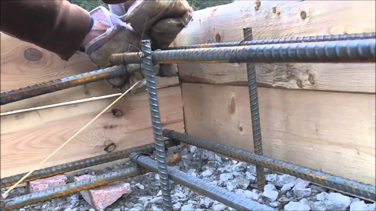 Floating Concrete Slab Diy Rebar Youtube