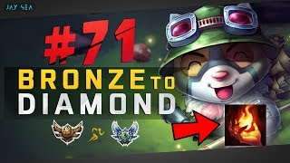 STOP PLAYING TEEMO WRONG! - Do This Strat | Teemo Top Chall Build | Bronze to Diamond Episode #71
