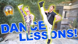 TEACHING LOGAN PAUL HOW TO DANCE!!!