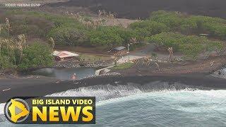 Hawaii Volcano Update - DLNR: New Beaches In Puna (Sept. 18, 2018)