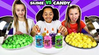 SLIME VS CANDY CHALLENGE!!