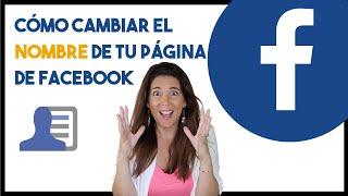 Cómo cambiar el nombre de la página de Facebook