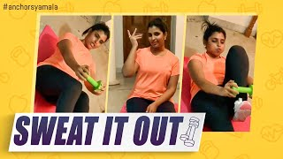 Anchor Syamala latest video on 3 weeks work out challenge ..