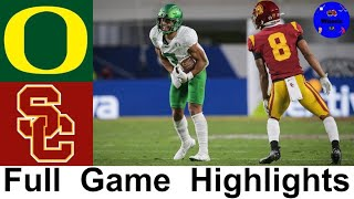 Oregon vs #13 USC Highlights | 2020 Pac 12 Championship | 2020 College Football Highlights