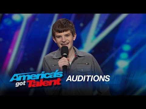 Leo Lytel: Awkward High School Student Nails His Standup Act - America's Got Talent 2015