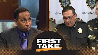 Stephen A. enraged over Houston police chief's Michael Bennett news conference | First Take | ESPN