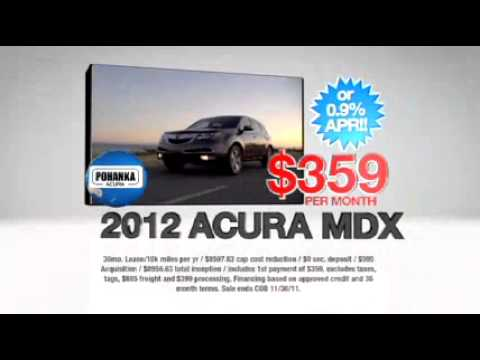 Pohanka Acura bring you November Specials