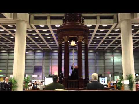 Lutine Bell rings in Lloyd's of London Insurance Market