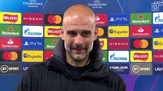 Pep Guardiola reacts to Manchester City's Champions League semi-final win