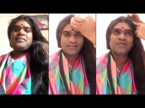 Anchor Bithiri Sathi lady getup making video