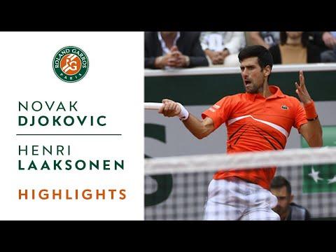 Novak Djokovic vs Henri Laaksonen - Round 2 Highlights | Roland-Garros 2019