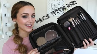 Whats In My Travel Makeup Bag? -PACK WITH ME! & My Tips!