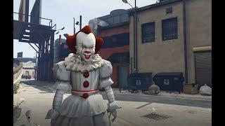 GTA 5 - Bí ẩn về Chú hề ma quái Pennywise (ý tưởng Fan)   GHTG 4K