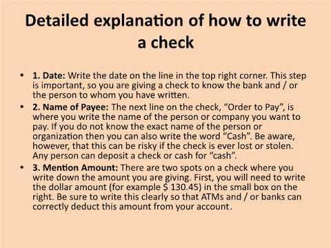 Steps to Write a Check