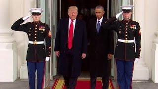 Trump, Obama depart White House