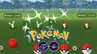 [LIVE] THREE Shiny Plusle & TWO Shiny Minun During Pokemon GO Fest Chicago: Weekend !